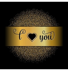 Golden glitter text vector