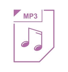 Mp3 file icon cartoon style vector