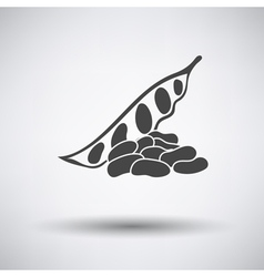 Beans icon on gray background vector
