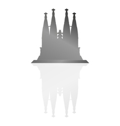 Sagrada familia in barcelona vector