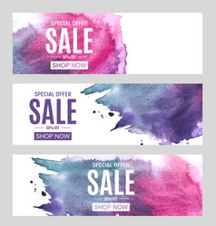 Abstract paint hand drawn watercolor background vector