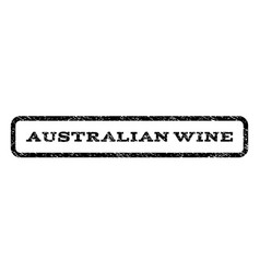 Australian wine watermark stamp vector