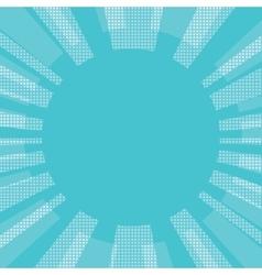 Blue comic retro background sun vector