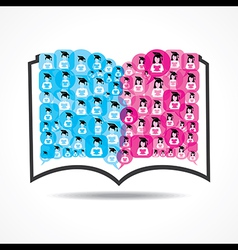 Book icon graduate student icons vector