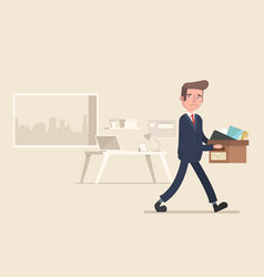 Businessman fired job flat vector