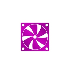 Computer cooling fan icon vector image vector image