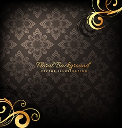 Elegant premium luxury floral background vector
