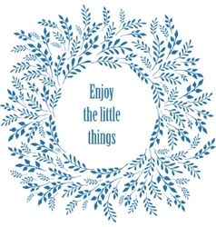 Enjoy the little things typography poster vector image