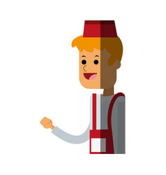 Fast food waiter icon image vector