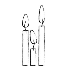 Figure canddles with fire icon vector