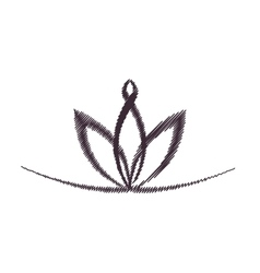 Floral decoration isolated icon vector