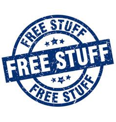 Free stuff blue round grunge stamp vector