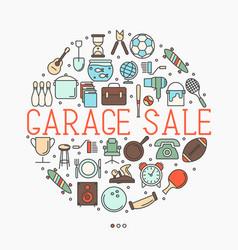 garage sale or flea market concept vector image