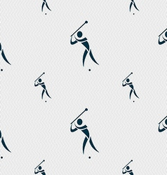 Golf icon sign seamless pattern with geometric vector