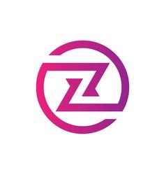 letter z business technology logo vector image