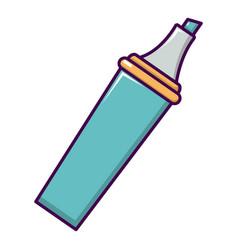 marker icon cartoon style vector image