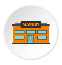 Market icon circle vector