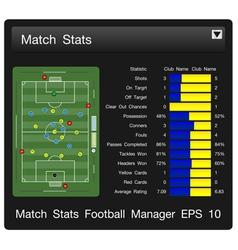 Match start football manager vector
