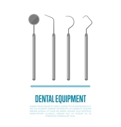 Medical equipment tools for teeth dental care vector image vector image