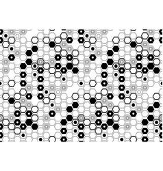 Minimalistic hexagon seamless pattern vector