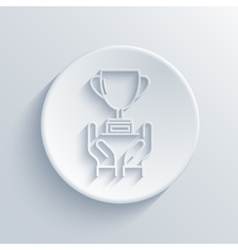 Modern light award icon vector