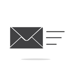 sending message icon vector image vector image