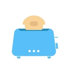 simple blue toaster icon vector image vector image