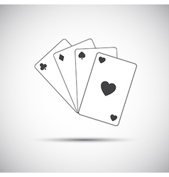 Simple playing cards icon game vector