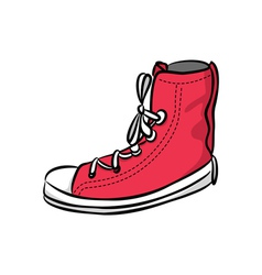 snicker shoes vector image vector image