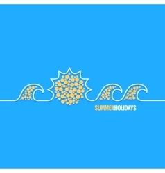 summer holiday line design background vector image