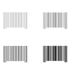 The barcode the black and grey color set icon vector