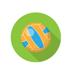 volleyball in flat design vector image