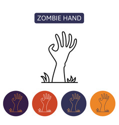 zombie hand from hell vector image vector image