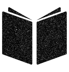 Open Book Grainy Texture Icon vector image