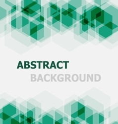 Abstract green hexagon overlapping background vector image