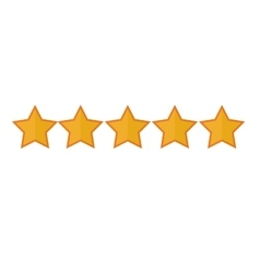 5 stars icon image vector