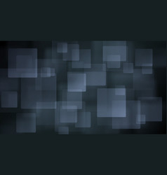 Gray abstract background of blurry squares vector