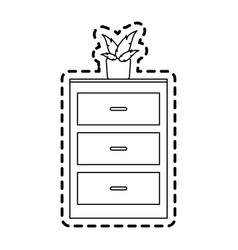 Archive furniture icon image vector