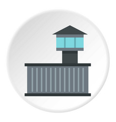 Prison tower icon circle vector