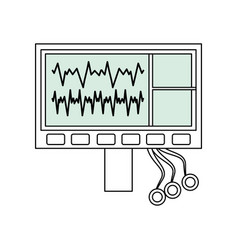 Heartbeat machine equipment vector