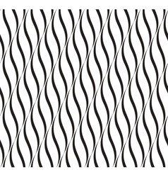Vertical waves black and white seamless pattern vector