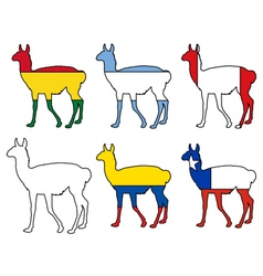 Guanaco flags vector
