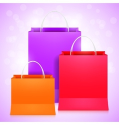Color shopping bags vector