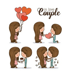 Romantic day design vector
