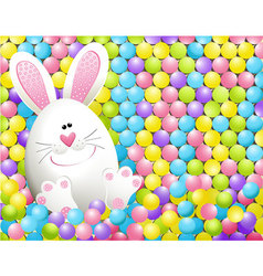 Easter rabbit in candies vector