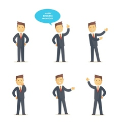 Businessman manager set vector