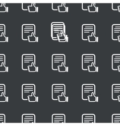 Straight black good document pattern vector