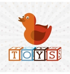 Toys kids design vector