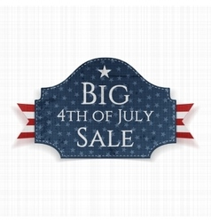 Big 4th of july sale label with ribbon vector