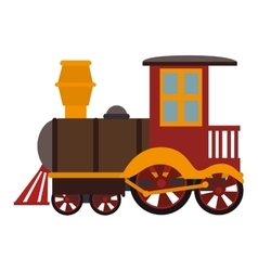 Train kid toy icon vector
